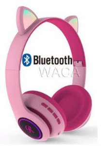 Fone Bluetooth Com Led CT66 Estilo Gato 7 Color