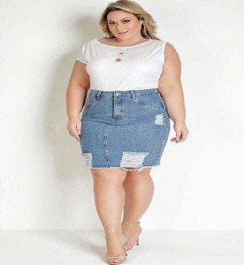 Body Branco Assimetrico Plus Size XXG