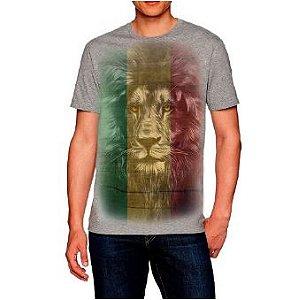 Camiseta Estampada masculina Leão Cores do Reggae
