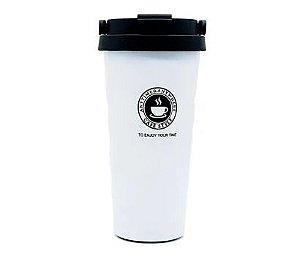 Copo Térmico Inox Cores 500 Ml Café Chá Chocolate Quente