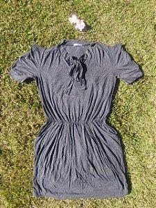Vestido Malha Cinza