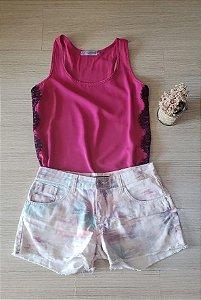 Regata Pink com Renda
