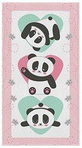 Toalha Infantil Ursinhos Pandas