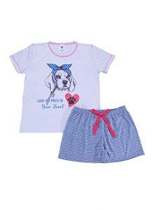 Pijama infantil de Cachorro com Laço