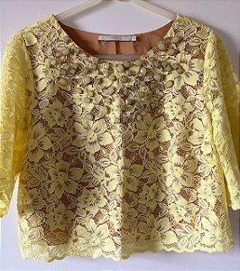 Blusa Cropped Amarela Animale