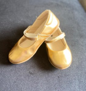 Sapato Infantil Dourado