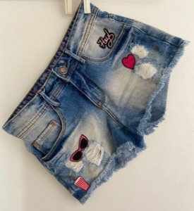 Shorts Jeans Bordado Authoria