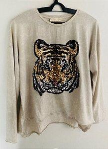 Blusa Bordado de Tigre