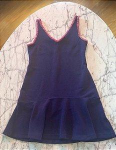 Vestido Curto Azul Marinho Maria Filó