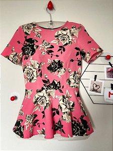 Blusa Floral Acinturada H&M