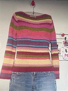 Blusa Tricot Colorida