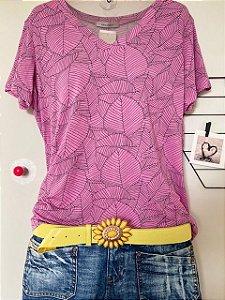 T-Shirt Pink Folhagem