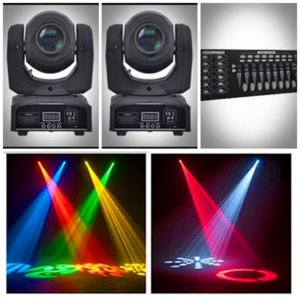 Kit 02 Mini Moving Head Spot LED 30W + Mesa DMX 192