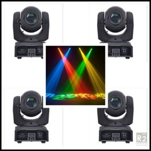 KIT 04 MINI MOVING HEAD SPOT 30W LED
