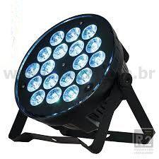 REFLETOR PAR SLIM 18 LEDS RGBW SHOW