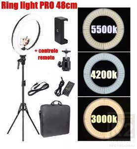 RING LIGHT PRO RL-19 48CM COMPLETO GREIKA