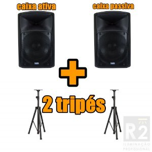 Kit 02 Caixas 15 Pol Mark Audio e Tripes