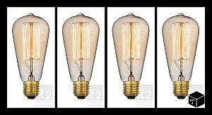 Kit 4 Lampadas Filamento Led 4w St64 Ctb