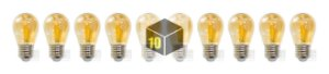Kit 10 Lampadas Filamento Led 4w G45 Ctb