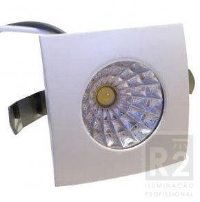 Mini Spot LED 1w Cob 6000K Quadrado Ctb