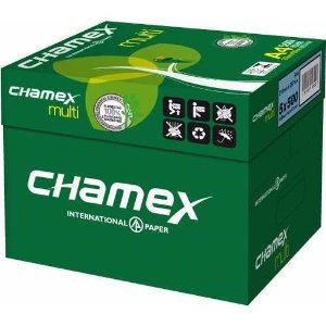 papel chamex A4 sulfite caixa com 05 pacotes