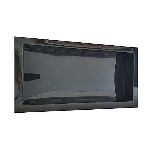 Nicho de Parede Embutir para Banheiro e Cozinha 30x60 Preto