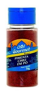 TEMPERO PIMENTA CHILI EM PO 50G CHEF GOURMET