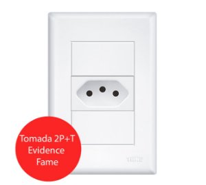 TOMADA 2P+T 10A/250V EVIDENCE FAME
