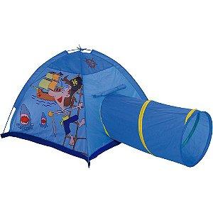 Barraquinha Infantil Azul Com Túnel Estampa Pirata MOR