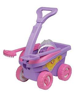 Cargo de Brinquedo Infantil de Praia 11 peças Rosa Mor
