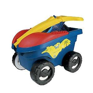 Cargo de Brinquedo Infantil de Praia 11 peças Azul Mor