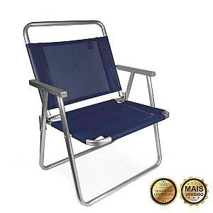 Cadeira Oversize Mor Alumínio Azul