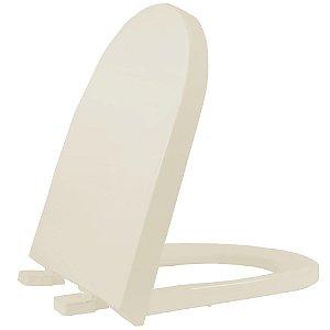 Assento Sanitário Plástico Carrara Soft Close Palha - DCNPPEV01SC