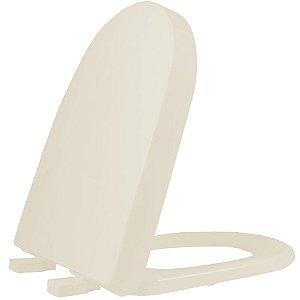 Assento Sanitário Plástico Carrara TF Soft Close Palha - ACLVTF01SC