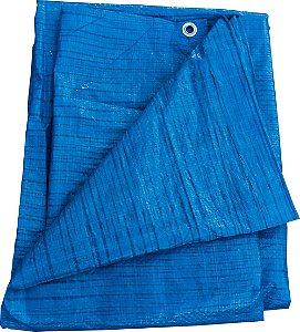 Lona Plastica Azul Encerada 70g/m2 14X12m