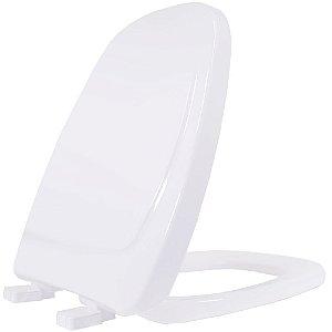 Assento Sanitario Plastico Monte Carlo TF Soft Close Branco - MCTFEGE17S