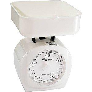 Balança Cozinha Branca Analógica 5kg Western