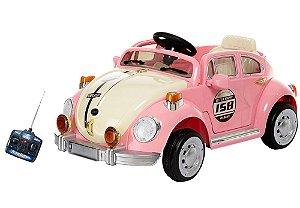 Carro Elétrico Infantil Fusca 6V Rosa