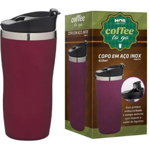 Copo Aço Inox 450ml Coffee To Go Rosa