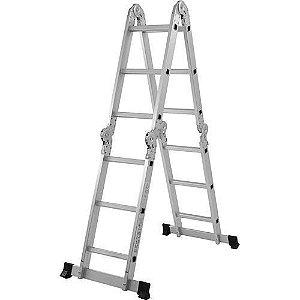 Escada Alumínio Multifuncional 4X3 12 Degraus