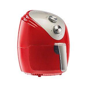 Fritadeira Eletrica Air Fryer Vermelha 2,5 Litros Silver 127V