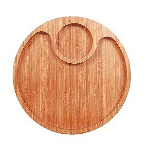 Gamela com 2 Divisórias Bamboo