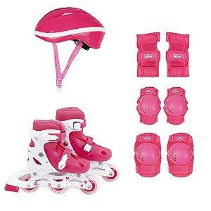 Kit Roller Infantil Rosa P Numeração 30-33 MOR