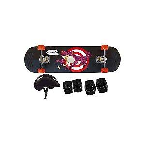 Kit Skate Infantil 79cmX20cm Sapo