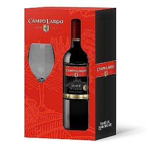 Kit Vinho e Taça Tinto Suave de Mesa Garrafa 750ml