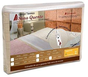 Lençol Térmico Casal Queen 220v Com Controle 2 Temperaturas Sono Quente Inmetro