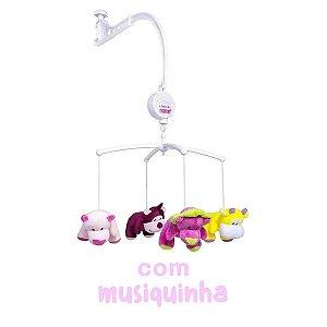 Mobile Musical Pelucia Berço Feminino