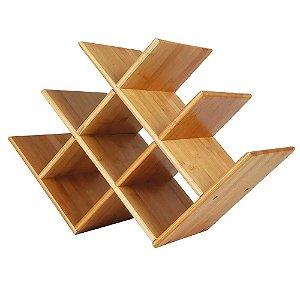 Rack para Vinho Mini-Adega em Bamboo MOR