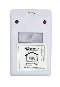 Repelente Eletrônico Ultrassônico Atóxico Para Ratos e Baratas Western