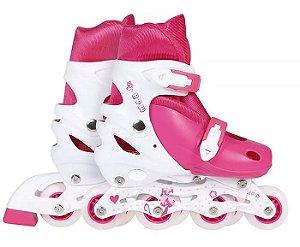 Roller Infantil MOR Rosa Tamanho-M Numeração 34-37